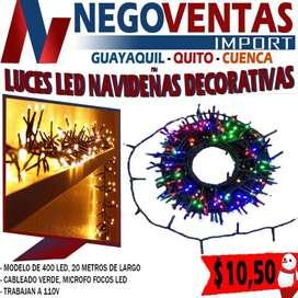 Luces led lineales de 400 navideñas decorativas