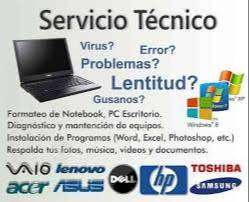 Reparación y Mantenimiento de Laptop y PC