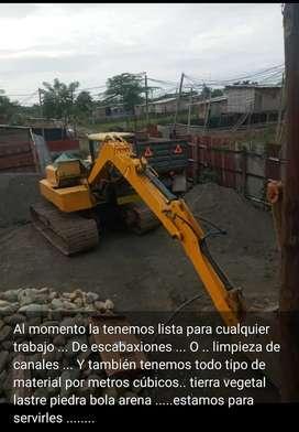 Materiales tierra, lastre, piedra bola etc. Excavaciones