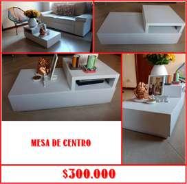 APROVECHA GANGA DE USADOS: Hermosa y acogedora mesa y silla en madera y cuero 100%300 y mas!