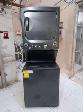 GANGAZO!! Torre lavadora secadora a gas Mabe negra