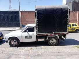 Vendo excelente camioneta para trabajo, Nissan Junior, carpada, 1981, servicio público, conversión a gas, capacidad 2 T.