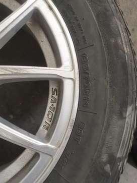 Vendo aros con llantas Rin 14 185/70 llantas Bridgestone Potenza