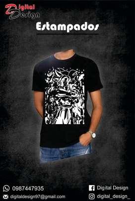 Camisetas estampados dragon ball z, super goku
