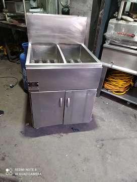 Fritadora industrial 2 tanques de alto rendimiento