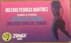 Instructora   grupal  y personal presencial y virtual  de  Zumba, Strong by Zumba, Personal Trainer, Baile, danza