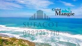 CUOTAS DE 250 USD, Terrenos con Hermosa Vista al Mar, Urbanizacion CIUDAD MANGLE, a 35 minutos de Manta,CREDITO DIRECTS1