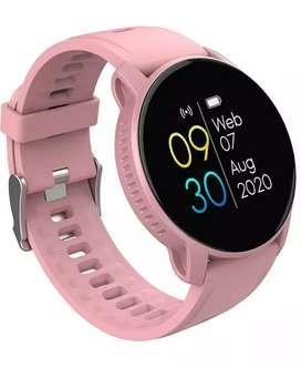 Reloj inteligente rosado para mujer WhatsApp, Bluetooth, ejercicio, vida saludable