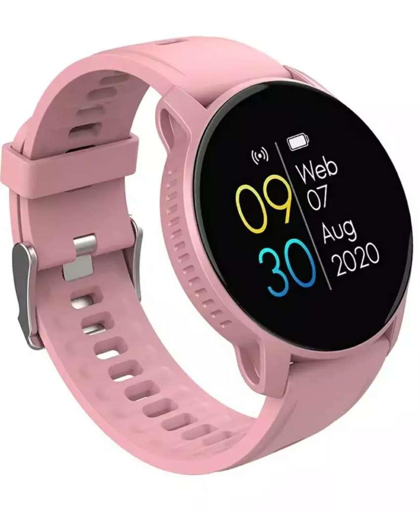 Reloj inteligente rosado para mujer WhatsApp, Bluetooth, ejercicio, vida saludable 0