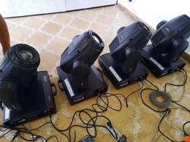Cabezas moviles SA052 y tripleflex led
