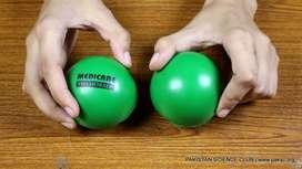 Pelota Fisioterapia Mano Relax Sin marcar verde 160.000 caja de 150 U