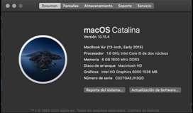 MacBook Air 2015 190 ciclos