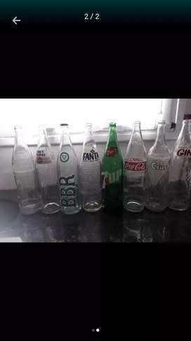 Vdo lote de botellas antiguas