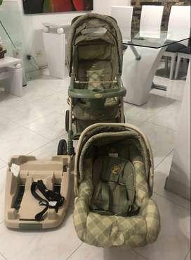 Coche confortable para niño con silla de carro (cargador para pasear)