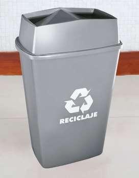 Tacho Papelera de Reciclaje Tapa Vaivén 44 litros de Capacidad