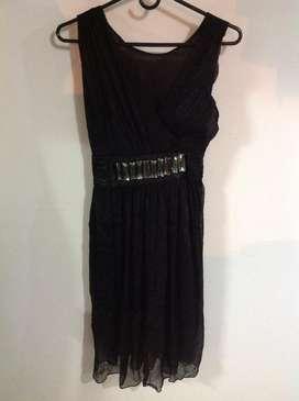 Vestido Negro de Fiesta Talla M