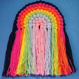 Arcoiris Colgante tejido a crochet