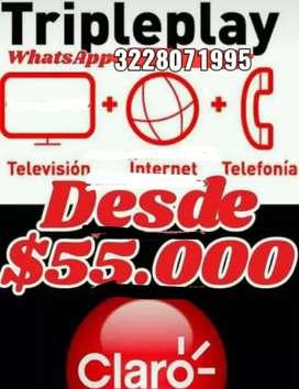Televisión internet y telefonía con claro