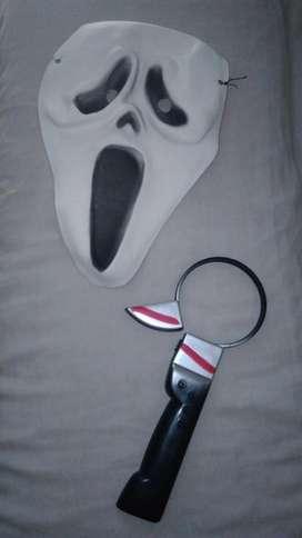 Máscara y Vincha Cuchillo