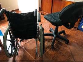 Hermosa silla de ruedas + silla de oficina