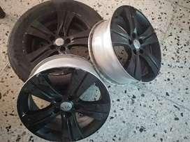 """Rines Kia 17""""- 5 huecos en aluminio"""