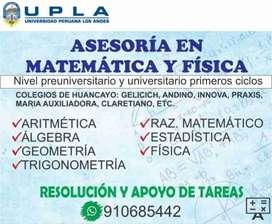 Clases preuniversitario y universitario MATEMATICA. CLASES PARTICULARES UPLA