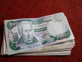 Billetes antiguos colombianos