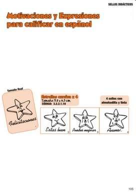 Sellos Didácticos Estrellas Cursiva X 4