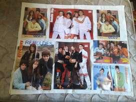 Posters Rebelde Way De Colección Lote 7 Excelentes!!!