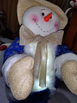 Muñecos de navidad con luces