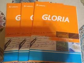 3 Cuadernos GLORIA hoja lisa