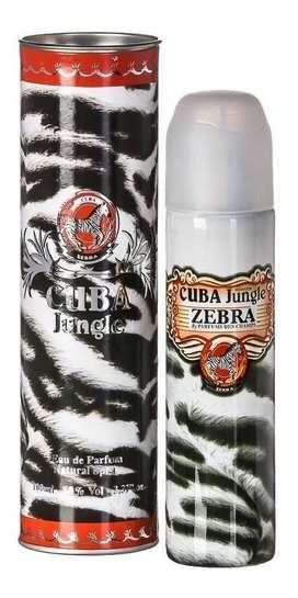 Perfume Cuba Jungle Zebra 100ml Mujer  Eros
