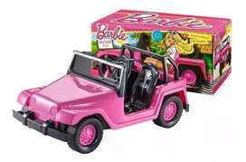 Jeep Safari Barbie con Stikers 30 cm