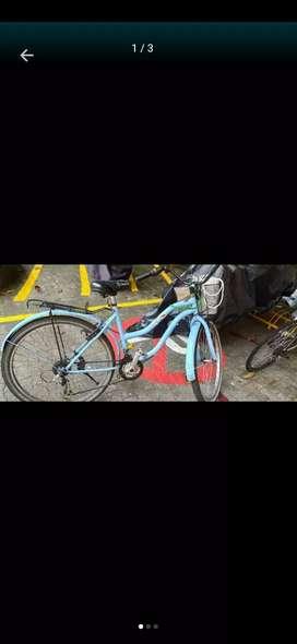 Bicicleta playera azul cambios shimano originales