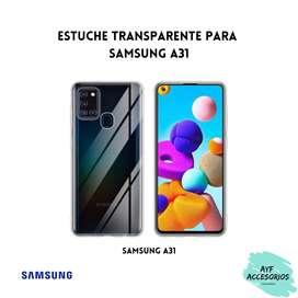 Estuche Para Samsung A31 Transparente Rígido
