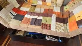 Vendo muebles sofa cama doble y sencillo