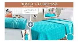 Cubre cama + toalla