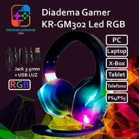 Diadema Gamer RGB kr-gm302