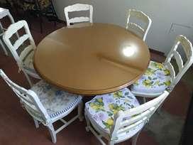 Juego de mesa y sillas de madera  para comedor