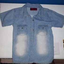 Camisa jeans niño talle 8