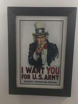 Cuadro Tío Sam I Want You For U.S. Army