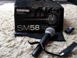 Microfono  Shure Sm 58 Original Mexico Con Cable Y Pie