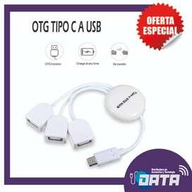 HUB OTG ADAPTADOR TIPO C A USB