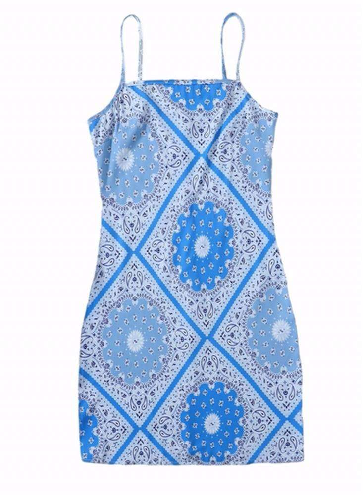 Vestido De tiras Color Azul Claro