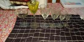Vendo copas cristal tallado