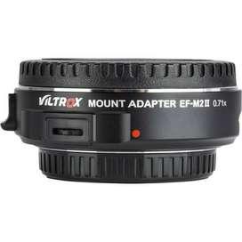 Adaptador de montaje de lente Viltrox Micro 4/3 a Canon