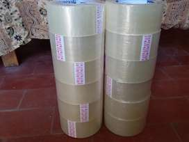 Cinta Adhesiva Embalaje Empaque 48 Cm X 100 Mrs Transparente Reforzada Marca EURO Calidad Premium x 12u Acepto Tarjeta