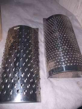 Ralladores de media caña   de acero sin uso esta nuevo
