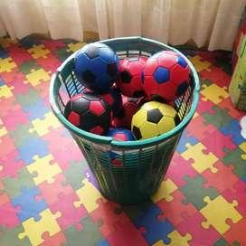 Mini pelotas de futbol