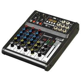 Mezclador Proel 2MIX4XU Audio efectos USB Bluetooth Music Box